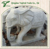 Hand Carved Limestone Elephant Carving Blue Stone Sculpture/ Statues/ Stonemasonry