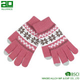 Winter Jacquard Acrylic Gloves with Touch Fingertips
