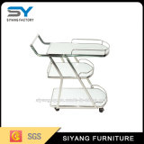Hotel Food Service 3 Layer Steel Trolley