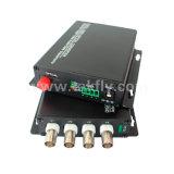 4 Channel Single Fiber Video Digital Optical Converter/Switch