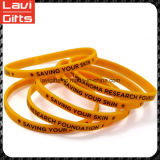 Beautiful Custom Thin Silicone Rubber Bracelet with Logo