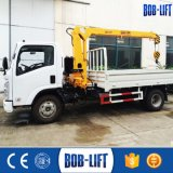 3.2 Ton Telescopic Foldable Arm Truck with Loading Crane