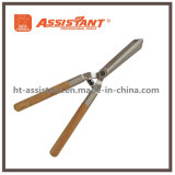 Heavy Duty Blade Drop Forged Hedge Shears with Wood Handles