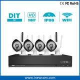 Wireless 1080P 4CH Poe IP Camera CCTV DVR Kit
