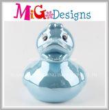 Smiley Happy Light Blue Piggy Bank Home Decoration