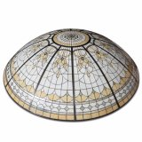 Prefabricated Giant House Double Shell Stained Glass Dome with Base