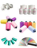 100% Dyed Spun Polyester Sewing Thread for Sewing Machine Embroidery