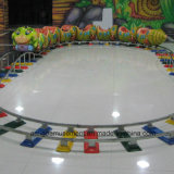 Electric Train Cartoon Worm Model for Indoor Playground