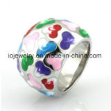 New Fashion OEM Jewelry Enamel Rings Multi Color
