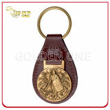 Custom Embossed Logo Genuine Leather Key Chain