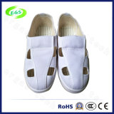 White PVC ESD Cleanroom Working Canvas Shoes (EGS-PVC-601)