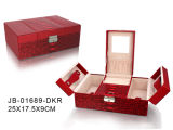 Fashion Design Red Leather Jewelry Box
