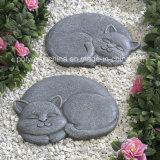 Polyresin Stepping Stone of Sleeping Cat