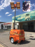 8meter Hydralic Mast Silent Diesel Mobile Light Tower