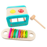 Hot Christmas Gift Multifunction Wooden Punch Ball Toy Set with Xylophone