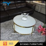Antique Style French Furniture Glass Table White Coffee Table