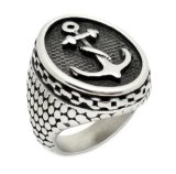 Stainless Steel Casting Jewelry Anchor Ring for Men