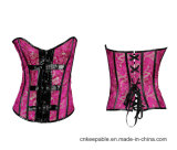 Women′s Waist Shaper Gothic Overbust Corset Top with Buckles