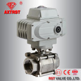 Electric Actuated Stainless Steel 3PC Ball Valve with 1000wog