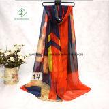 Long Printed Beach Shawl Lady Fashion Silk Scarf