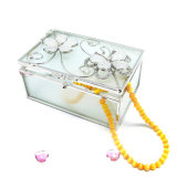 High Quality Cheap Folding Glass Jewelry Box Hx-6372