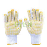 Gardening Using String Knit PVC Dots Work Gloves in China
