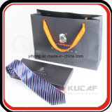 Professional Factory Silver Hot Foil Logo Paper Bow Tie Packaging Box