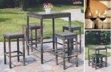 High Leg Hand-Weaving PE Rattan Outdoor Coffee House Bar Furniture