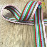 Colorful Striped Cotton Webbing for Bag or Garment Accessories