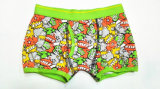 Allover Printed New Style Opening Boy Boxer Brief Underwear