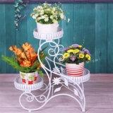 3 Pot Decorative Metal Iron Flower Planter
