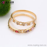 China Wholesale Xuping Fashion 18k Gold -Plated Elegant Zircon Bangle (51317)