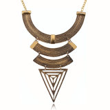 Fashion Geometric Triangle Metal Statement Choker Necklace Jewelry