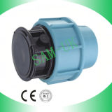 Plumbing Fitting PP Compression Fitting Quick End Cap