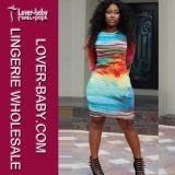 Printed Fashion Tight Fit Fancy Woman Dress (L27918)