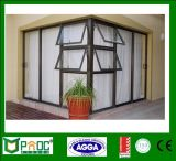 Interior Double Glazed Aluminum Top Hung Windows with As2047 Residential