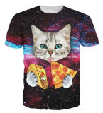 New Style Fashion Cotton Cat Printed Men T-Shirt