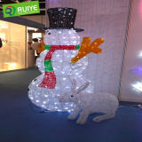 3D Christmas Snowman Motif Light for Home and Garden Decoration