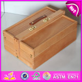 Desk Easel with Box, Wooden Sketch Box Easels with Beech Wood-Wooden Easel Box W12b067