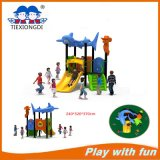 Outdoor Plastic Slide Exhibition Playground Equipment