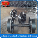 Customized Cast Steel Rail Wagon Wheel Matched Mining Car