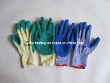 Latex coated cotton gloves / Latex gloves