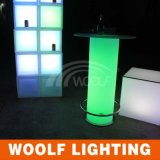 LED Light Illuminated Bar Table with Ice Bucket