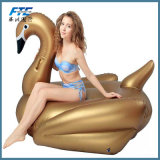 High Quality Giant Inflatable Glod Swan Pool Float Row