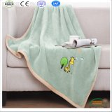 Hotsale Blankets Embroidery Logo Blanket Coral Fleece Blanket with Embroidery Logo