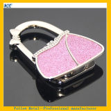 Popular Portable Folding Pink Glitter Powder Table Handbag Hook