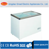 Flat Glass Door Chest Freezer 100~528L