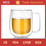 Creative Heat-Resistant Double Wall Belly Glass Mug for Gift Cup