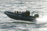 Aqualand 27feet 8.3m Fiberglass Rigid Inflatable Boat/Rib Boat (rib830A)