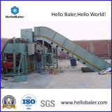 Horizontal Hydraulic Waste Paper Baler with Conveyor for Sale